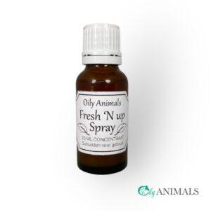 Fresh N up oily animals natuurlijke luchtverfrisser tegen nare geuren neutraliseert