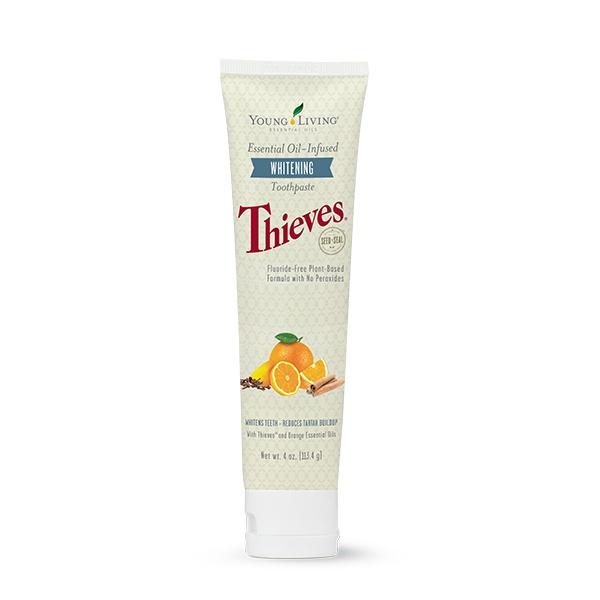 Thieves whitening toothpaste natuurlijke tandpasta young living oily animals